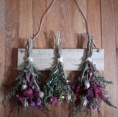 Rustic Board of Flowers