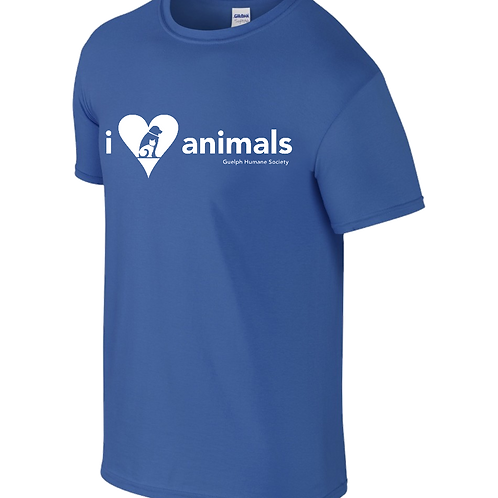 "Guelph Humane Society's ""I Love Animals"" Tee"