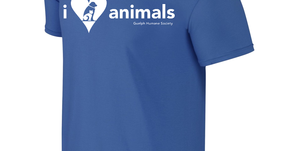 "Guelph Humane Society's ""I Love Animals"" Tee"