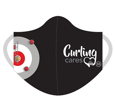 Curling Cares 3-Ply Mask (Black)