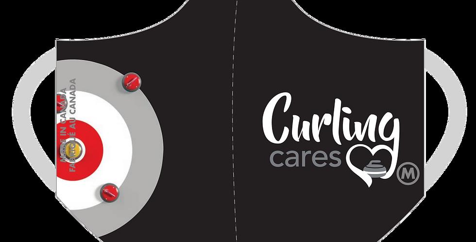 Curling Cares Mask (Black)
