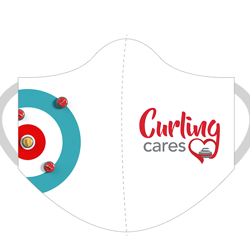 Curling Cares 3-Ply Mask (White)