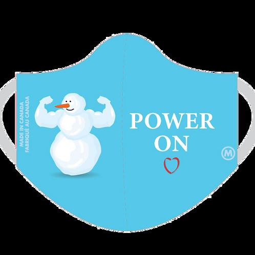 Snowman 3-PlyMask (Blue)