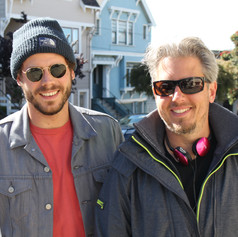 """Jeremy Alter and Francois Arnaud on the set of """"She's in Portland"""""""