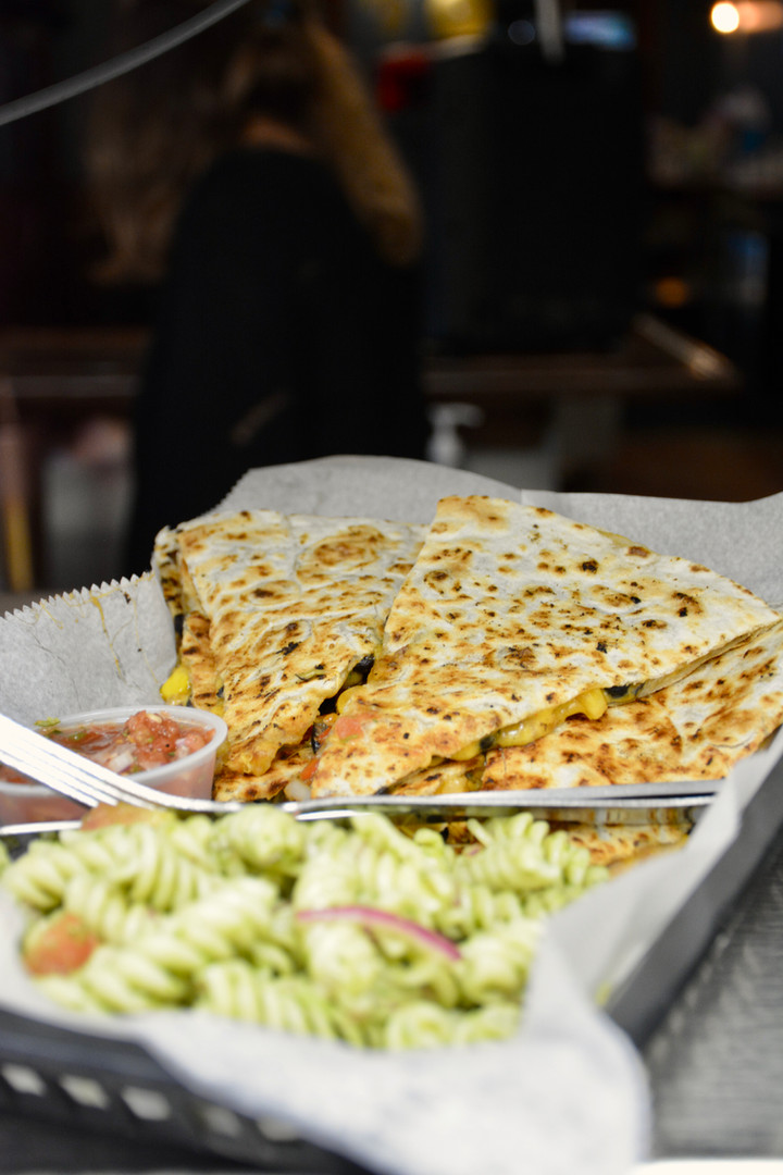 Quesadilla & Pasta Salad