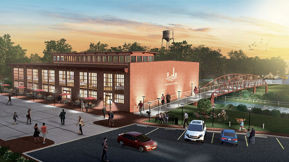 Rendering of Natty Greene's Kitchen + Market