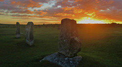The Hurlers at Sunset