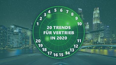 Sales Trends Radar: 20 Vertriebstrends, die Sie für 2020 nicht ignorieren sollten