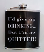 humourous hip flask