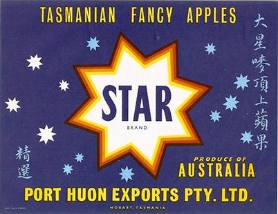 tasmanian-apple-label-star-brand-asia