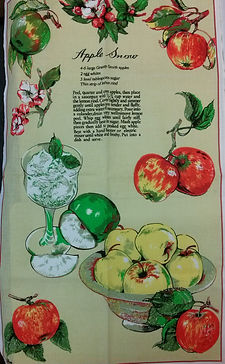 snow apple tasmanian souvenir tea towel.