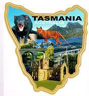 Tasmanian photos souvenir sticker