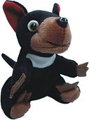 tasmanian devil plush bean bag toy souve