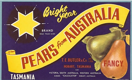 Tasmanian-pear-labels-bright-star-butler