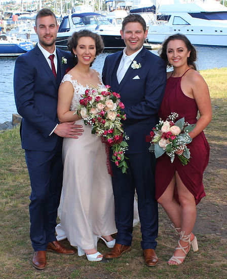 Bridal Party Wedding Photography at The Royal Yacht Club in Sandy Bay Tasmania
