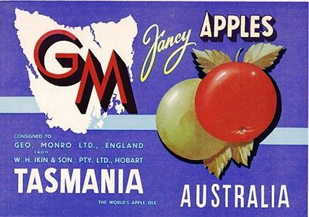 Tasmanian-apple-labels-GM-Brand