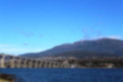 Mount Wellington and Tasman Bridge Hobart Tasmania