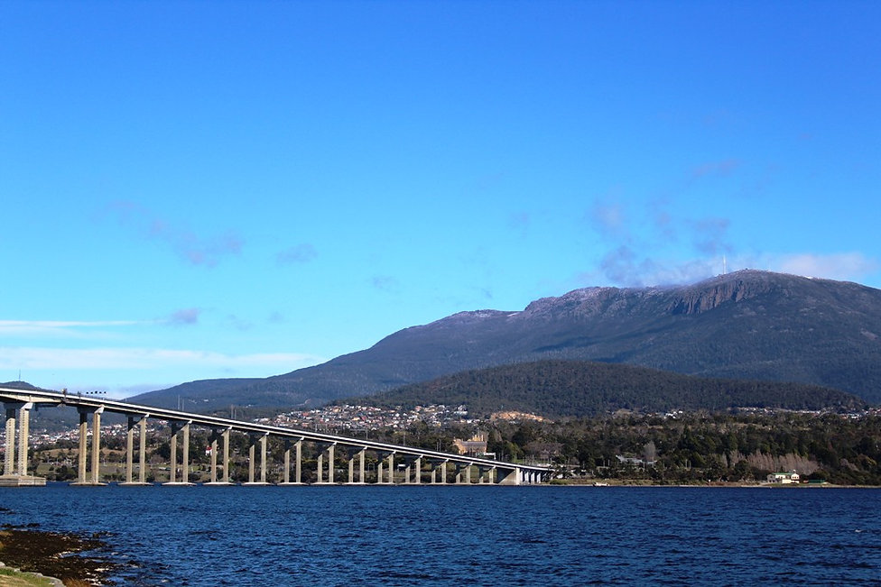 Mount Wellington and Tasman Bridge Hobart Tasmania