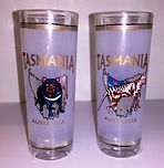 Tasmanian devil frosted shot glass
