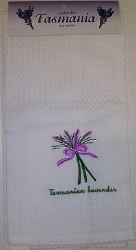 lavender tea towel tasmanian souvenir.jp