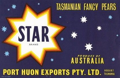 Tasmanian-pear-labels-star-brand