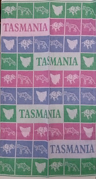 tasmanian devil tiger map souvenir tea t