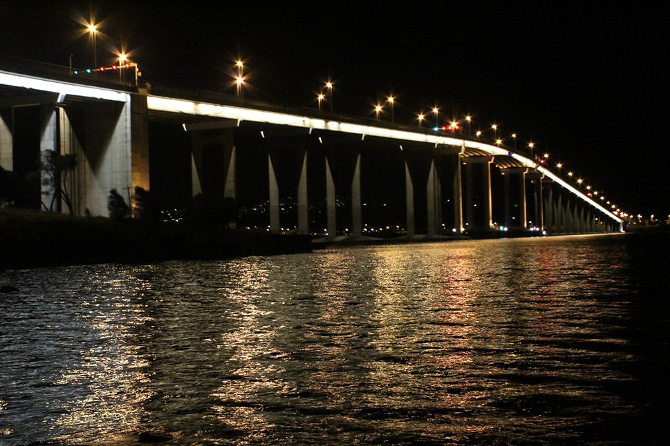 Tasman Bridge at Night, Hobart Tasmania