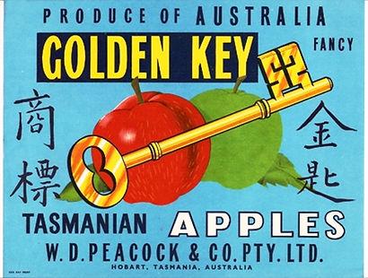 Tasmanian-apple-label-golden-key