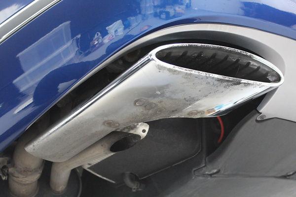 Bentley Mulsanne - Exhaust Cleaning Befo