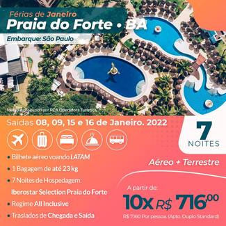 IBEROSTAR SELECTION PRAIA DO FORTE JANEIRO 2022