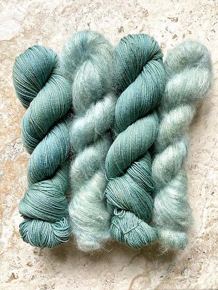 sea glass | sock + lace mohair