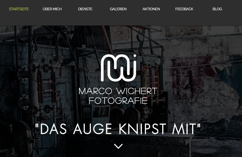 Marco Wichert Fotografie | Berlin | Website Design 2018