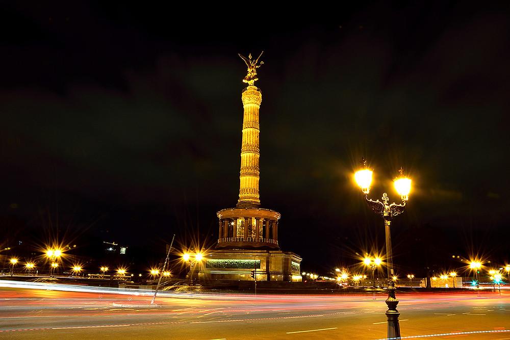 Marco Wichert Fotografie Berlin - Berlin Siegessäule bei Nacht