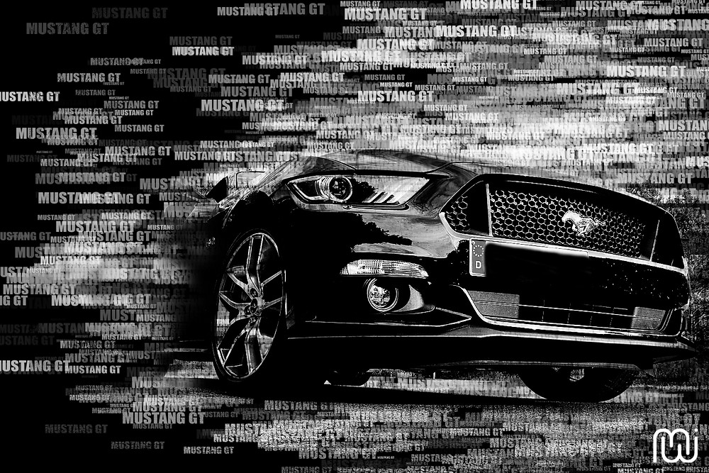 Ford Mustang GT Word-Scatter-Motiv