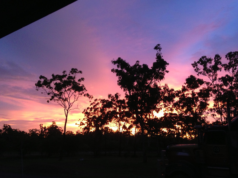 Magical sunset in Darwin's rural area- celebrant