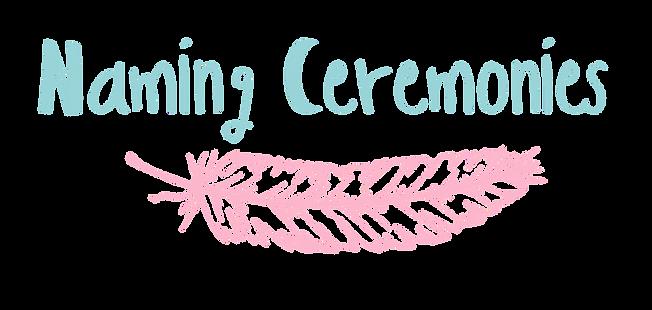 naming ceremonies, darwin, logo, feather