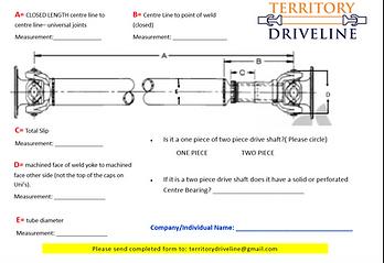 driveshaft measure up, territory driveline