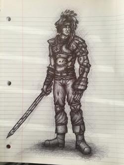Dart the Fire Dragoon Sketch