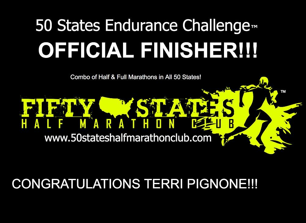 Half marathon and marathon in all 50 states