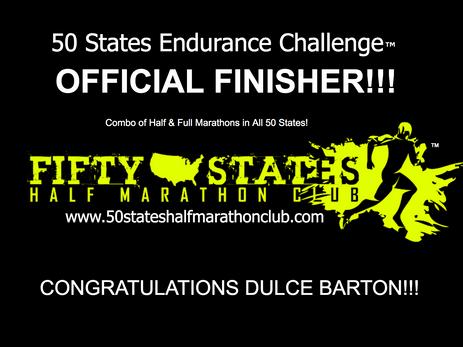 Dulce Barton (Long Beach, California) 50 States Endurance Challenge Finisher