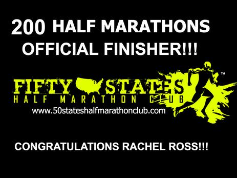 Rachel Ross (Coalinga, California) 200 Half Marathons Finisher
