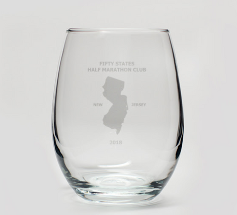 50 States Half Marathon Club 2018 Annual Member Party Awards Night Wine Glass Gift for Attendees