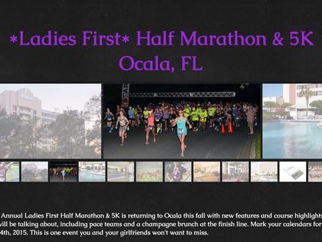 Ladies First Half Marathon Discount - Ocala, Florida