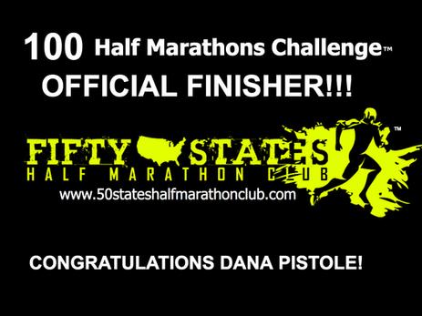 Dana Pistole Finishes 100th Half Marathon