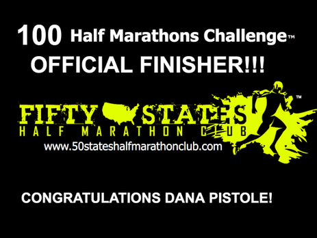 Dana Pistole Finishes 100th Half Marathon