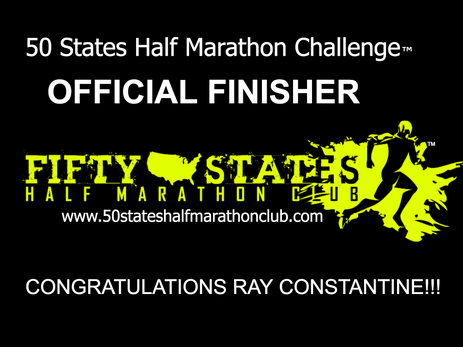 Ray Constantine (Stillwater, Minnesota) 50 States Half Marathon Challenge Finisher and 100th Half Ma