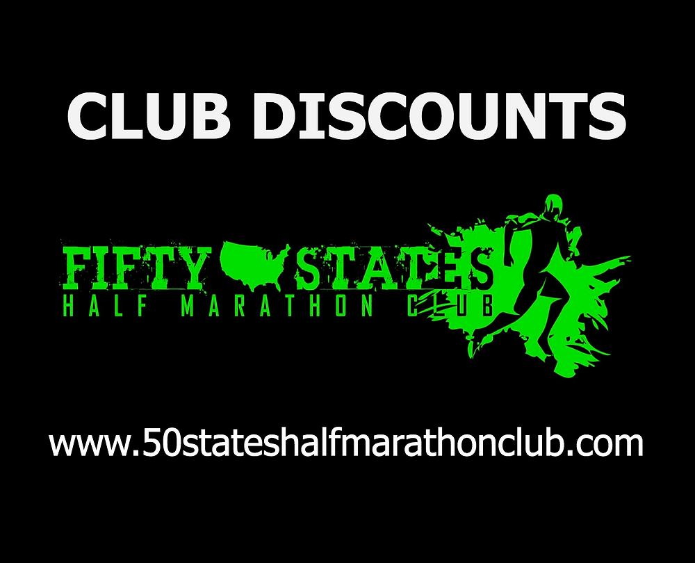 50 States Half Marathon Club Discounts