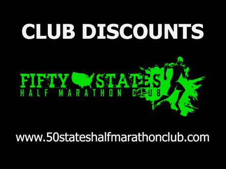 Preview of 50 States Half Marathon Club discounts - Just to give non-members an idea (keep in mind t