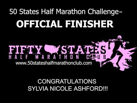 Sylvia Jones (Columbia, South Carolina) 50 States Half Marathon Challenge Finisher