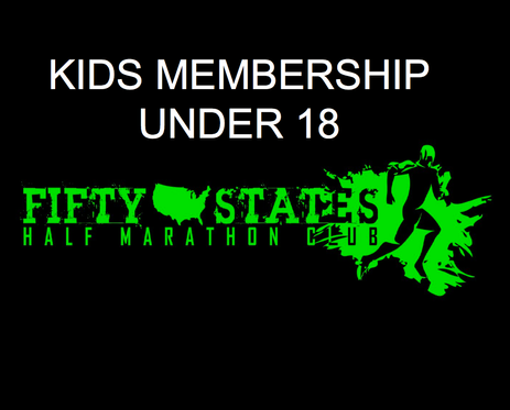 New 50 States Half Marathon Club Kids Membership